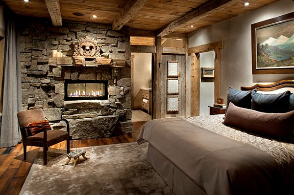 Inspiring rustic bedroom ideas to decorate with style for Mountain modern bedroom