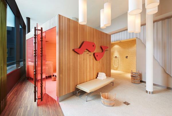 modern sauna room