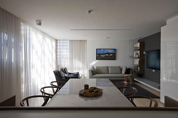 hidden kitchen design. View in gallery open plan living room Small Space Solutions  Hidden Kitchen from Minosa Design