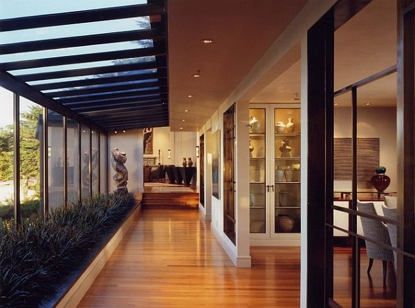 Modern Open Space Natural House Design Open Space Living Room With Indoor Plants