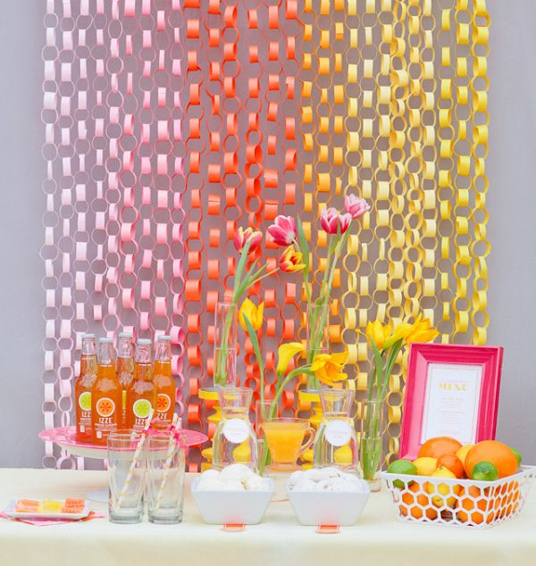 View in gallery DIY paper chain garland