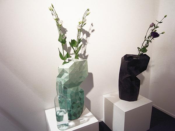 paper vase geometric cover