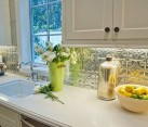 Stylish pressed tin kitchen backsplash