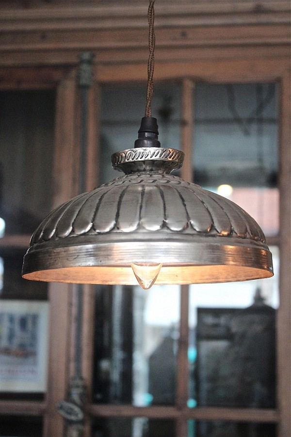 Pressed tin pendant for the attic