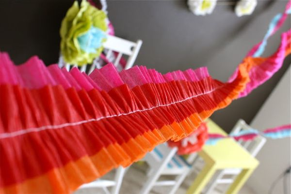 DIY ruffled streamers take decorating to the next level