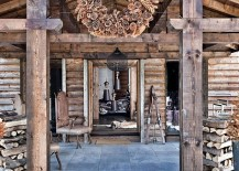 Rustic One Oak Chalet in the French Alps Charms With Its Touch of Modernity
