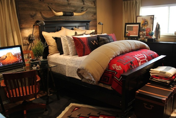 rustic bedroom masculine Inspiring Rustic Bedroom Ideas to Decorate with Style