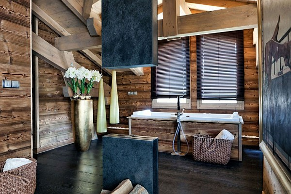 rustic contemporary bathroom