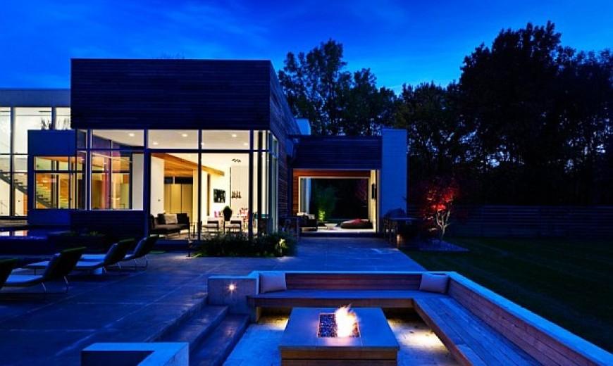 Contemporary Home in Ohio With Bright, Bold Interiors