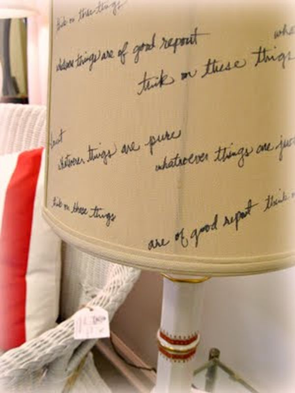 A creative DIY lamshade using a sharpie
