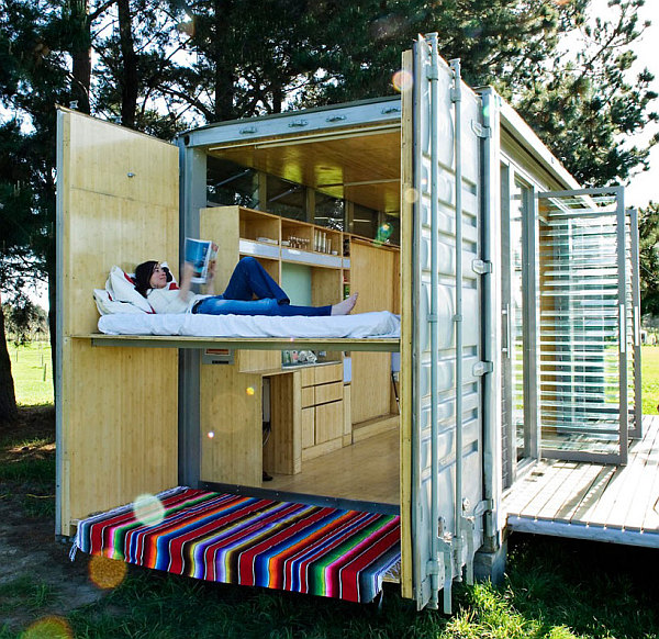 Cargo Shipping Container Homes: Compact And Sustainable Port-A-Bach Shipping Container