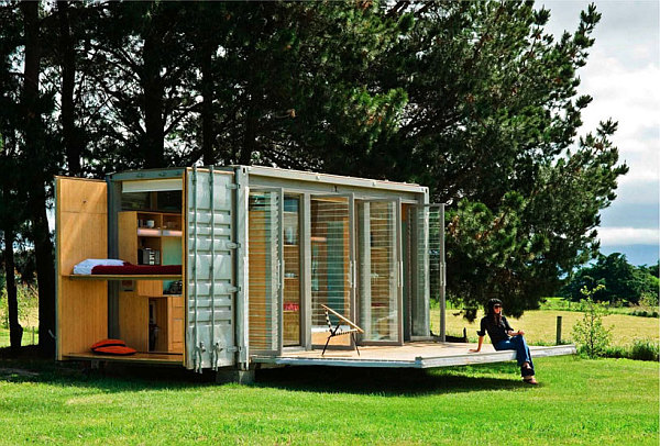 shipping container holiday home