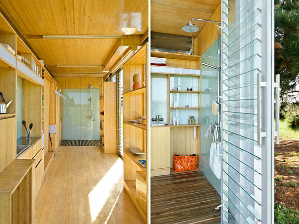 interior of shipping container homes compact and sustainable port a bach shipping container 24503