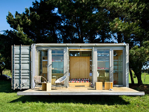 shipping container home Compact and Sustainable Port A Bach Shipping Container Holiday Home