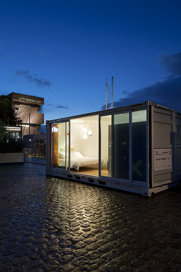 shipping container hotel Sleeping Around Shipping Container Hotel: Always on the Move!