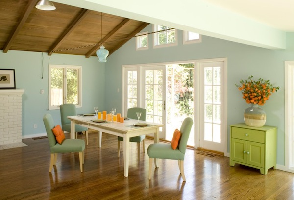 springtime color dining room