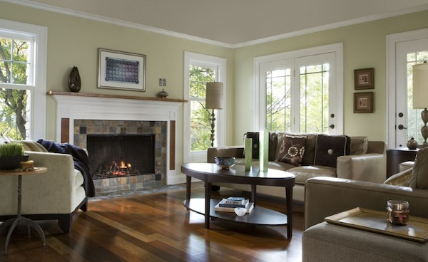 Bringing spring time colors into your winter home for Neutral green paint colors for living room