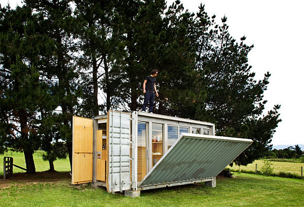 steel shipping container home