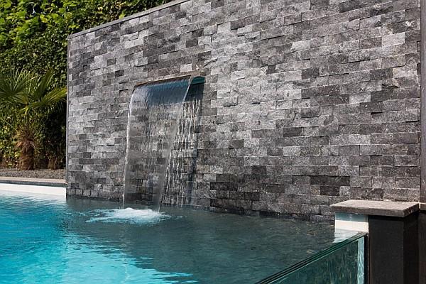 stone furnished pool