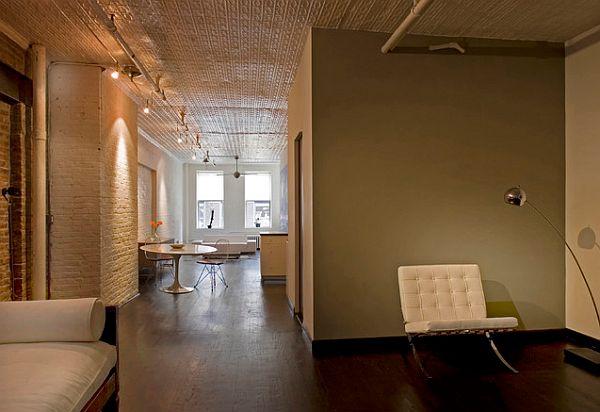 Stylish loft with pressed tin ceiling
