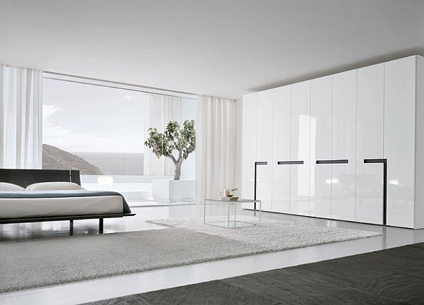 Stylish mattress in the bedroom
