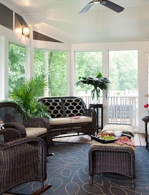 sunroom furniture wicker