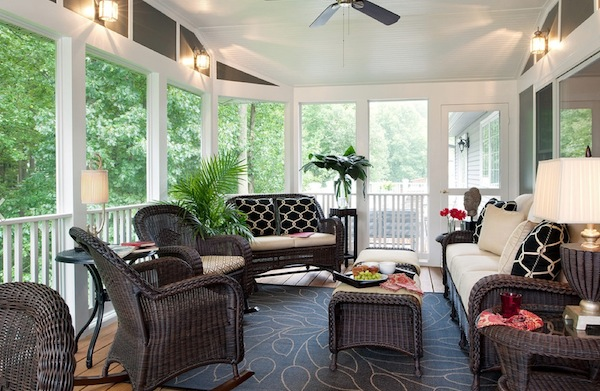 View In Gallery Sunroom Furniture Wicker