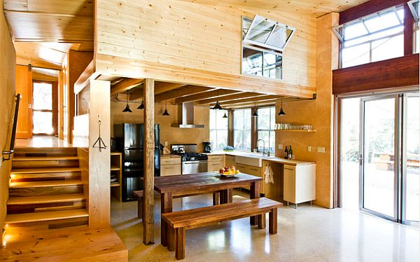 Suspended home office in a loft design