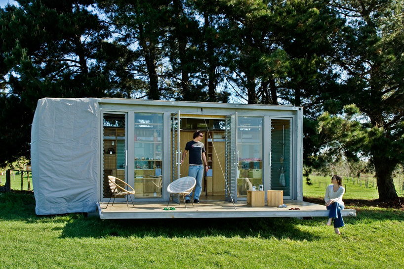 sustainable holiday home Compact and Sustainable Port A Bach Shipping Container Holiday Home