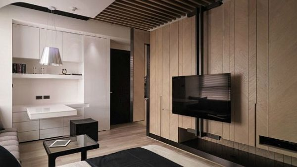 tiny apartment in taiwan Small Apartment Design Overcomes Space Problems & Clutter in Style