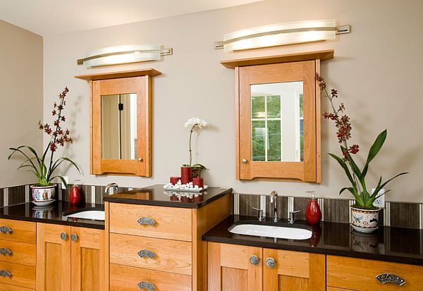12 beautiful bathroom lighting ideas - Traditional bathroom mirror with lights ...