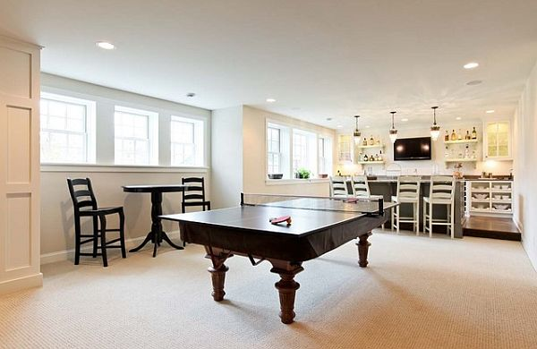 Ultra elegant tenis table in games room
