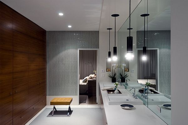 Ultra modern bathroom lighting