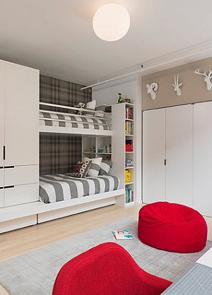 Ultra modern bunk beds for kids