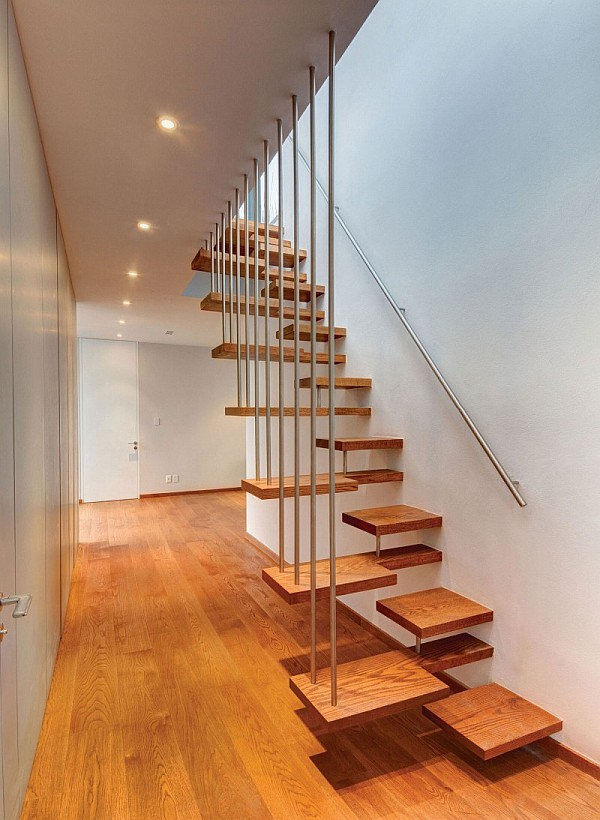 unusual creative floating staircase
