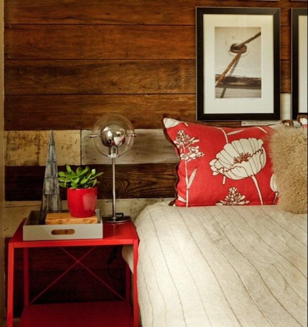 weathered wall panel rustic bedroom