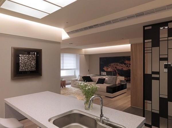 white kitchen worktop