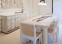 white washed dining room