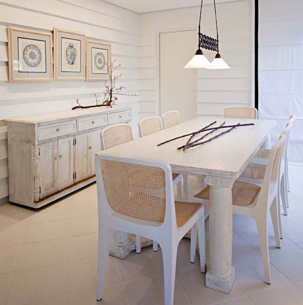 View In Gallery White Washed Dining Room