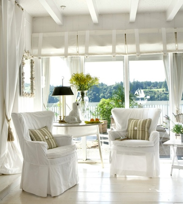 View In Gallery White Washed Outdoor Furniture