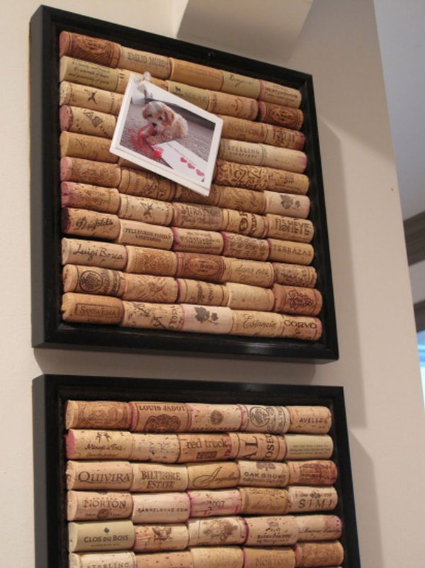 DIY cork board using old wine corks