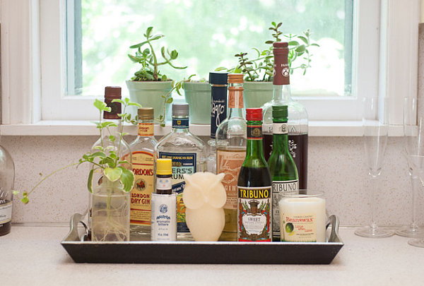 A stylish display of liquor