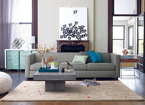 Abstract antelope rug