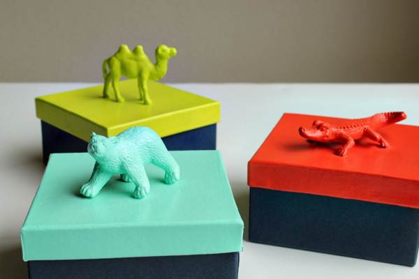 Animal party favor boxes