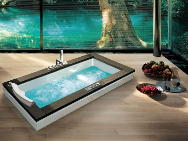 Aura whirlpool bath promises drenched ecstasy 18 Spa Like Bathroom Designs for the Posh