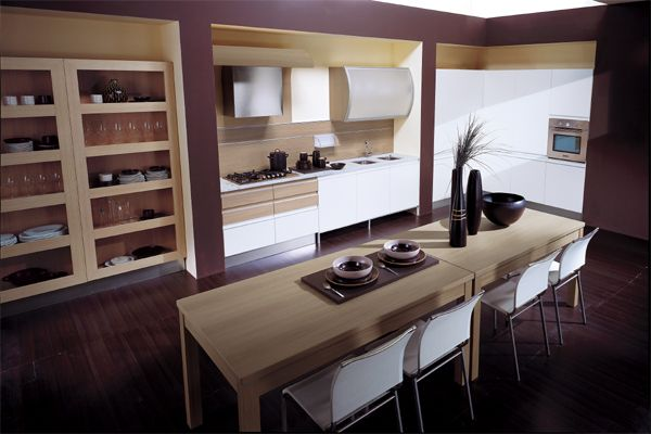 View In Gallery Beautiful Contemporary Kitchen With A Vivid Violet Tinge