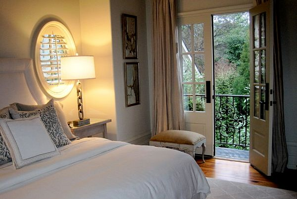 Bedroom french door leads to the balcony Bringing the Outdoors In with French Door Inspiration