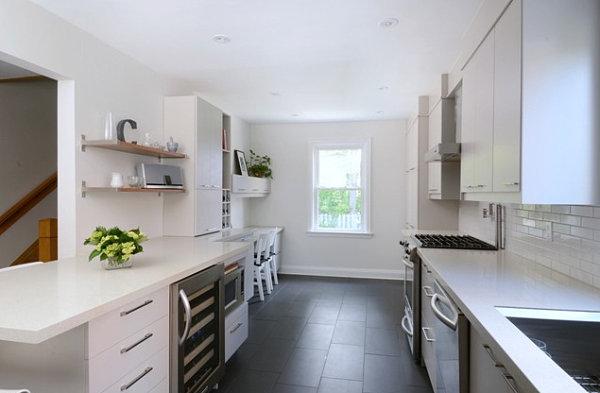 View in gallery Black porcelain tileTile Floor Design Ideas. Dark Tile Floor Kitchen. Home Design Ideas