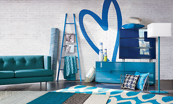 Blue decor makes a great transition to spring