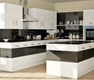 Bold kitchen design in black and white